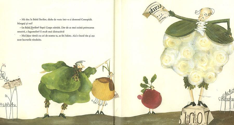 Ilustraţii carte pentru copii 'Balul florilor'