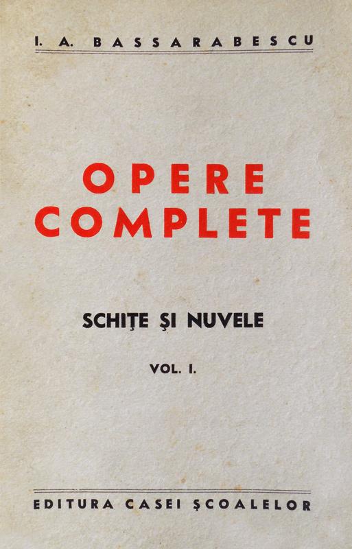 Opere complete (editia princeps, 1939)