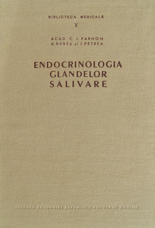 Endocrinologia glandelor salivare