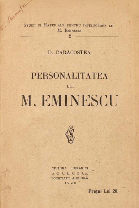 Personalitatea lui M. Eminescu