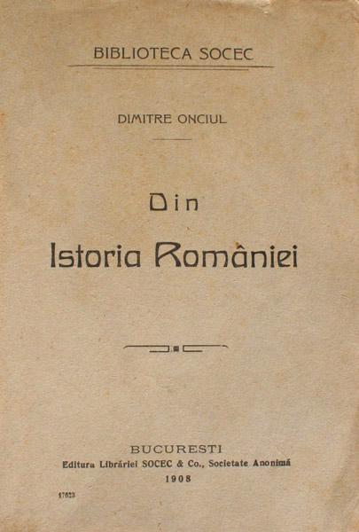Din istoria Romaniei (1913)