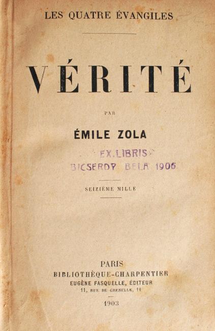 Verite (editia princeps, 1903)