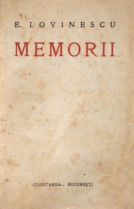 Memorii (editia princeps, 1932)