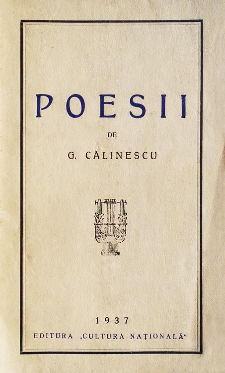 Poesii (editia princeps, 1937)