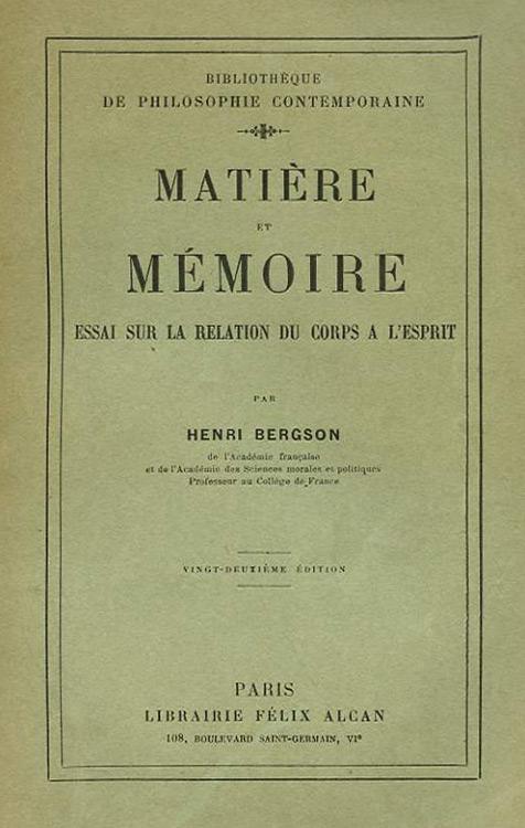 Matiere et Memoire (1926)