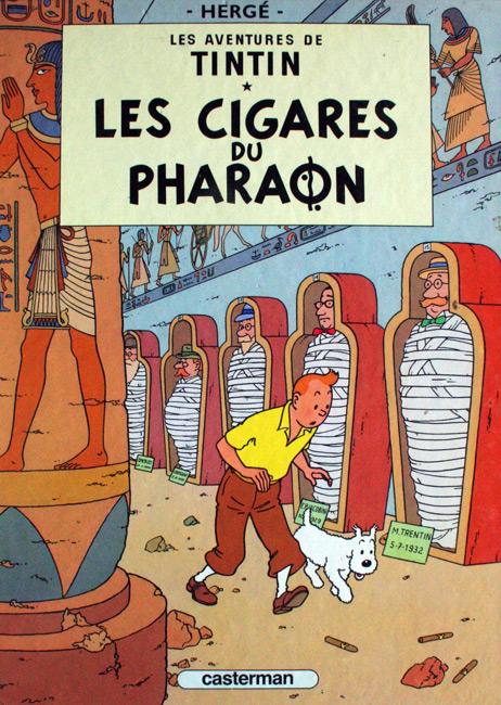 Les aventures de Tintin. Les cigares de pharaon