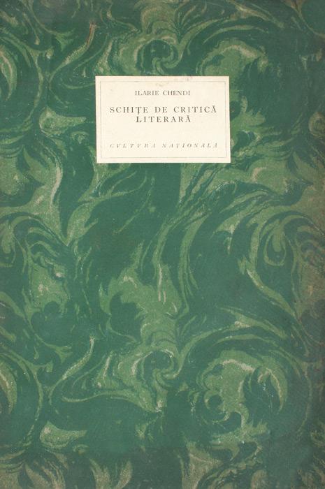 Schite de critica literara (editia princeps, 1924)