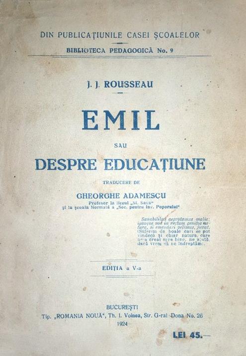 Emil sau despre educatiune (1923)