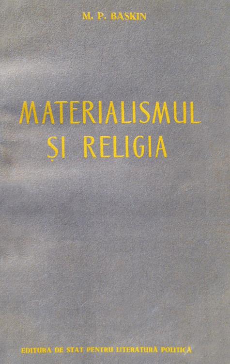 Materialismul si religia