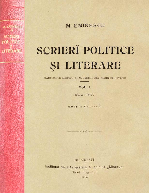 Scrieri politice si literare (editia princeps, 1905)
