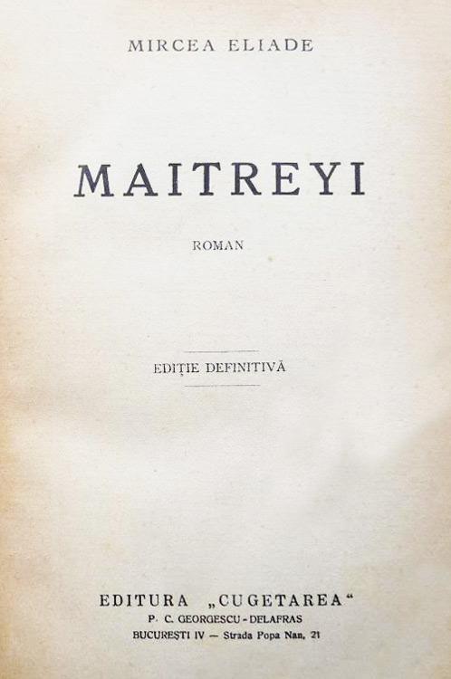 Maitreyi (editia princeps, 1933)