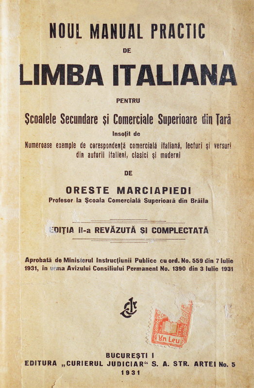 Manual practic de limba italiana (1931)