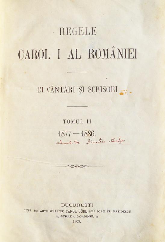 Cuvantari si scrisori (editia princeps, 1909)