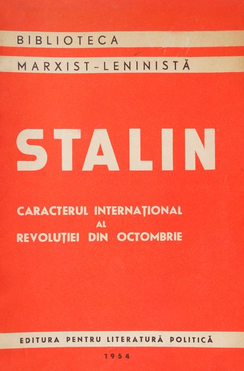 Caracterul international al revolutiei din octombrie