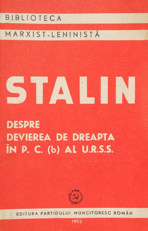 Despre devierea de dreapta in PC al URSS