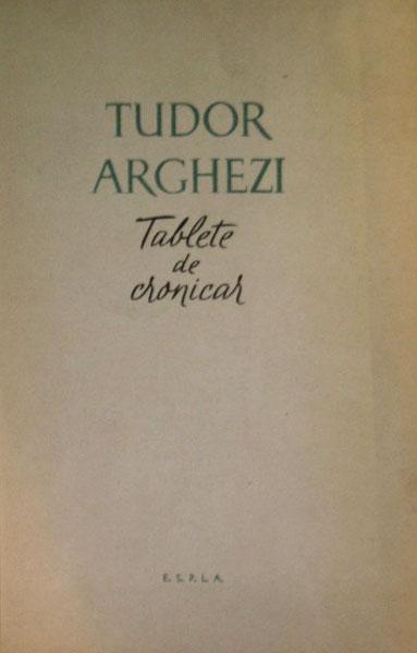 Tablete de cronicar (editia princeps)