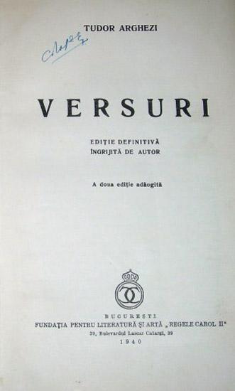 Versuri (editia definitiva, 1943)