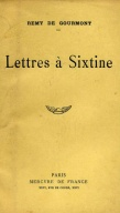 Lettres a Sixtine